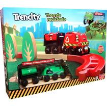 Trencity Kit Inicial De Madera Maciza Color Verde (video)
