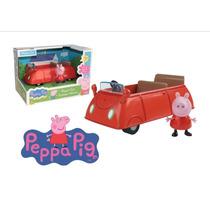 Peppa Pig Vehículo Auto Rojo Flores - Microcentro