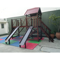 Juegos Infantiles En Madera Para Jardines Exterior /interior