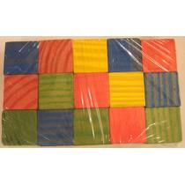Bloques Cubo De Madera Artesanal Colores 15 Piezas