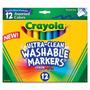 Crayola Marcadores Lavables Max Gruesos 12 Colores Colores B