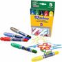 Crayola Window Crayones Para Vidrios Espejos Azulejos 5 Colo