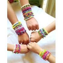 Loom Bands 600 Gomitas Surtidas Ganchitos Y 3 Agujas