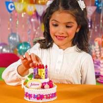 Torta Chica De Cumpleaños Juliana - Con Luces Y Sonido - Tv