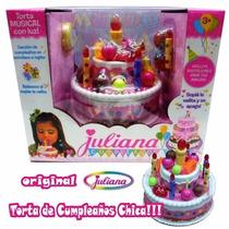 Torta De Cumpleaños Juliana Chica Luz Sonido