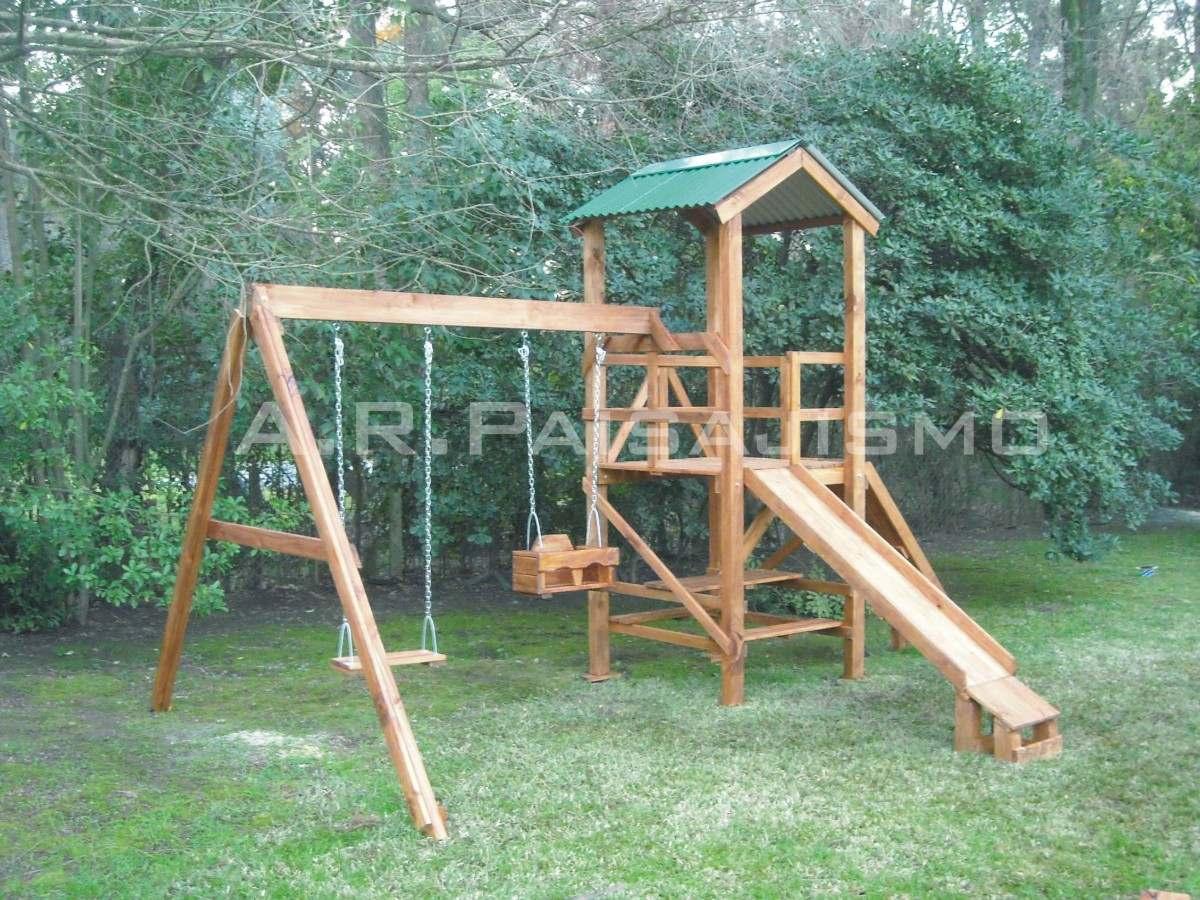 Como hacer juegos infantiles de madera imagui for Columpios infantiles