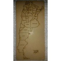 Mapa De Argentina Rompecabezas Para Armar Y Aprender