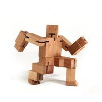 Juego Robot Madera Niños Didactico Muñeco Articulado