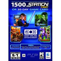 Tarjeta Sony 1500 Station Cash O 30 Day Dias Envío Inmediato