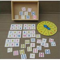 Loteria De Numeros Y Puntos 35u. Con Ruleta Mat. Didáctico