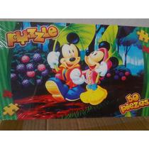 Puzzle Mickey Y Minnie - 50 Piezas- Juguete-mania