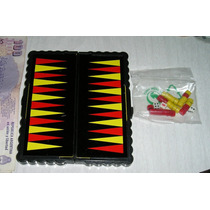 Mini Juego De Bolsillo Backgammon Nuevo En Caja