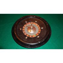 Antigua Ruleta De Chapa 28 Cm, Con Detalle