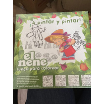 Juego Para Pintar- El Nene- 4 Laminas- 6 Pinturas