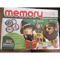 Juego Memory- Asociando Letras- 36 Piezas