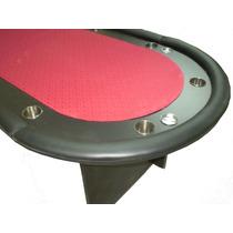 Mesa Poker Profesional 10 Jugadores Paño Speed Y Posavasos