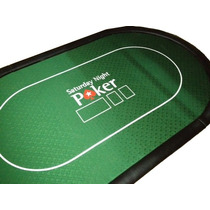 Mesa Poker Profesional 10 Jugadores Con Logo - Paño Completo