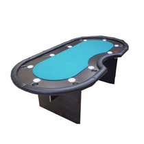 Mesa De Poker Oval Con Croupier - Paño Speed - Fábrica