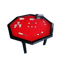 Mesa De Poker ¡excelente Terminacion! Mdf ~ Deportes Brienza