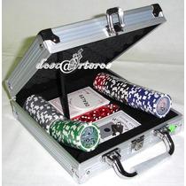Fichero De Poker De 100 Fichas Numeradas Brillante 5 Colores