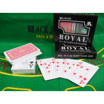 Cartas 100% Plástico - Royal- $140 - Original- Poker