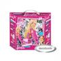 Puzzle Circular Metalizado Barbie 101 Piezas Base Goma Eva