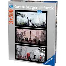 Rompecabezas Ravensburger De 1500 Piezas: City Art