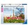 Tulipanes Eiffel Ravensburger 1000 Piezas