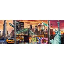 Rompecabezas Ravensburger De 1000 Piezas: Triptico: New York
