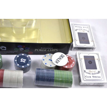 Set De Poker - 100 Fichas + 2 Mazos De Naipes Fair Play Toys