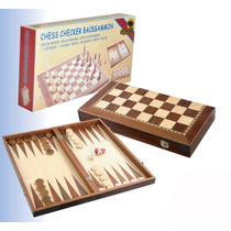 Ajedrez Backgammon 4 Caja Color