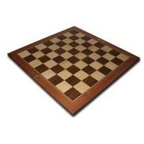 Tablero De Madera Fijo Escaques De 6 Cm X 6 - Ventajedrez