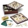3 Set 6 Juegos Damas Cartas Backgammon Ajedrez Dominó Genera