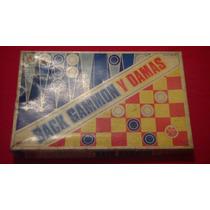 Antiguo Juego De Back Gammon Y Damas Juegos Mundial