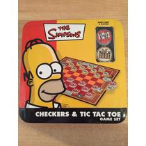 Juego Damas Y Ta-te-ti Los Simpson