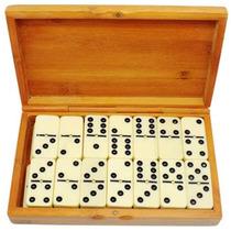 3 Juegos Dominó 28 Piezas Estuche Caja Madera