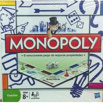Monopoly Familiar Juego Finanzas Mas Famoso Hasbro Nuevo