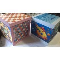 Juegos De Mesa En Cajas Cubos Guarda Juguetes