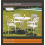 Juego De Mesa Y Sillones Europeo P/ Exterior Jardin Aluminio