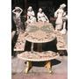 Juego De Cemento Con Ceramica Mesa Y Bancos Luis Guillón