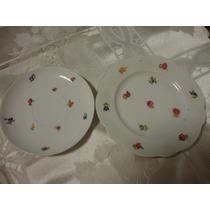 Platos Antiguos De Porcelana Sellados (2)para Decoracion