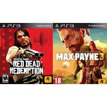 Red Dead Redemption + Max Payne 3 Ps3 Tarjeta Digital