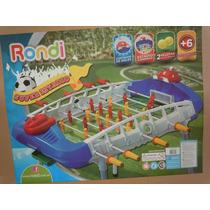 Metegol Super Estadio Rondi -cuentagol-luz Y Patas De Caño-