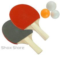 Set De Ping Pong Paletas Raquetas + 3 Pelotitas Profesional