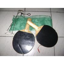 Ping Pong Paletas Y Red Con Soportes De Fierro Juego