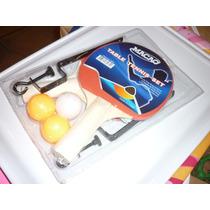 Set De Ping Pong Completo: 2 Paletas, 3 Pelotitas Y Red