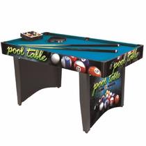 Mesa De Pool 153 X 82 X 78 Cm Hogar Sala De Juegos Quincho