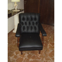 Antiguo Par De Sillones Estilo Chesterfield