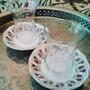 Set De Té Turco Vasito + Platito De Porcelana