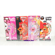 Reloj Pulsera Con Diapositiva Luces Reloj Kity Princesa Cars